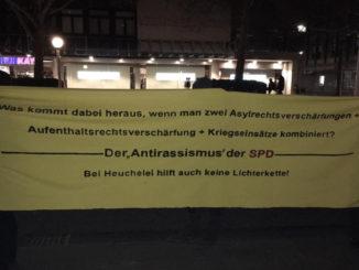 Protest gegen die SPD