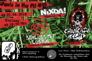 PITP #05 Nixda! / Schluss mit Lustik / Kamikaze Klan @ Sauerkrautfabrik Harburg