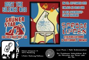 Spröde Lippen / Grüner Strar - BTS #03 @ Sauerkrautfabrik Harburg