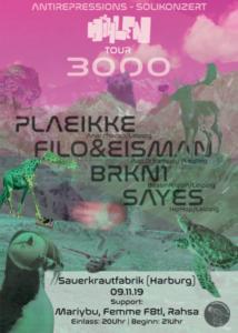Höhlentour 3000 Antirepressionskonzert @ Sauerkrautfabrik Harburg